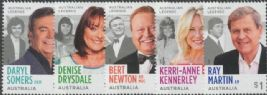 AUS SG4842-6 Australian Legends (22nd Series): TV Entertainers set of 5
